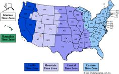 7 Best Maps Of Usa Time Zone Images Time Zone Map Time Zones