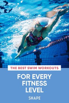 These structured swim workouts are perfect for both beginner swimmers and seasoned mermaids. Find the right swimming workout plan for you and dive right in. #cardio #pool #swimming Swimming Workouts For Beginners, Swim Workouts, Intense Cardio Workout, Low Impact Workout, You Fitness, Health Fitness, Freestyle Swimming, Olympic Swimmers, Sweat It Out