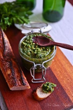 Parsley Pesto with pinenuts, reggiano, olive oil and garlic