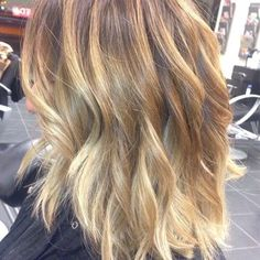 Light Brown Base with Balayage Blonde Highlights | Yelp