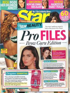May 6, 2013 issue of Star Magazine featuring Veet High Precision Facial Wax Hair Remover!