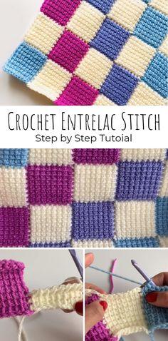 Learn How to Entrelac Crochet – Super Easy Way! Learn How to Entrelac Crochet – Super Easy Way! Tunisian Crochet Blanket, Tunisian Crochet Patterns, Crochet Patterns For Beginners, Crochet Squares, Crochet Afghans, Learn To Crochet, Easy Crochet, Crochet Hooks, Free Crochet