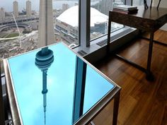 Mirror Tower Outdoor Tables, Outdoor Decor, City Living, Drafting Desk, Cn Tower, 21st Century, Outdoor Furniture, Mirror, Toronto