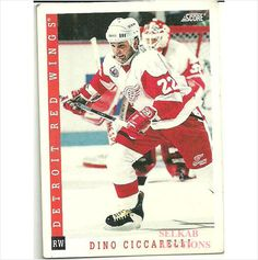 Score 1993 NHL Hockey Trading Card #214 Dino Ciccarelli #22 Detroit Red Wings on eBid Canada $1.00