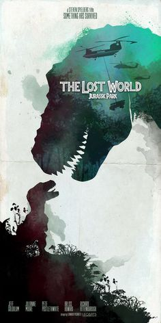 A shame that the poster is gar better than the movie.  Jurassic Park The Lost World - Steven Spielberg 1997