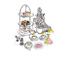 Afternoon Tea  Food Illustration Art Print by StephanieHarland, £20.00