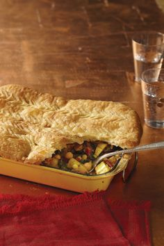Winter Squash Pot Pie with Swiss Chard and Chickpeas