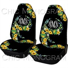 Car Seat Covers Sunflowers Front Seat Covers Monogram Personalized Seat Covers For Car For Vehicle Sunflower Back Seat Minimalist Outfit, Hippie Car, Car Mats, Cute Cars, Car Shop, Wheel Cover, Car Accessories, Truck Accesories, Truck Accessories