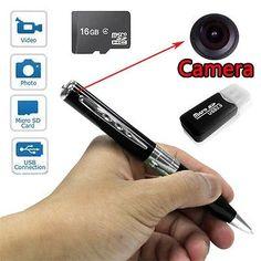 Mini Spy Golden Pen Hd Video Hidden Camera Camcorder  Dvr Spycamera