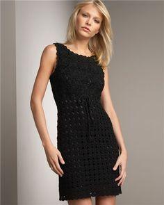 Black Motif Dress free crochet graph pattern