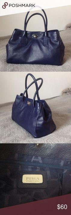 Furla handbag Midnight blue leather handbag, slightly used (price negotiable) Dust bag included. Furla Bags Shoulder Bags