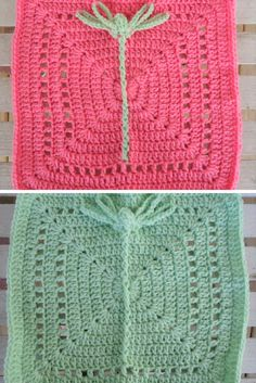 [Free Crochet Pattern] Amazing Dragonfly Square