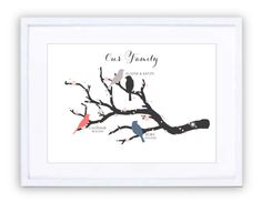Family Branch Personalised Prints, New Beginnings, Framed Prints, In This Moment