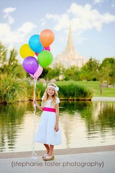 Stephanie Foster Photography: Chloe Turns 8!  LDS Baptism Photo Shoot Gilbert Arizona Temple #mormon #gilberttemple