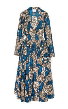 Shop Parrot Printed Wax Cotton Shirtdress by Stella Jean for Preorder on Moda Operandi
