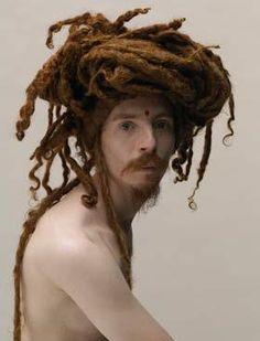 You hair, its a rats nest #dreadlocks. I thought this was strangely eye catching.