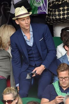 Tom looking dapper as hell at Wimbledon 2015 - Harpers Bazaar