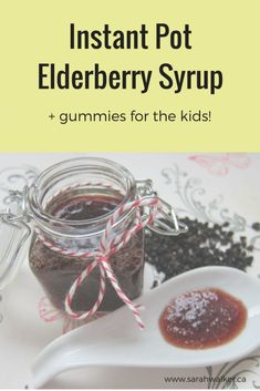 Elderberry syrup helps reduce the severity and duration of colds and flu. Make this syrup and gummies for your whole family and keep them healthy this winter!