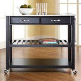 Found it at Wayfair - Kitchen Cart with Stainless Steel Top, also in white w stainless top