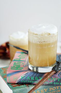 This warm Hogwarts butterbeer gets an intense butterscotch flavor from homemade syrup (worth it).