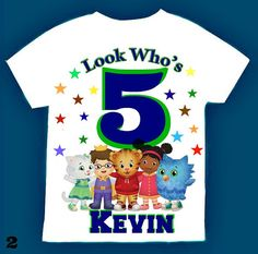 Daniel the tiger Personalized t-shirt 1st 2nd 3rd 4th 5th 6th Personalization is…