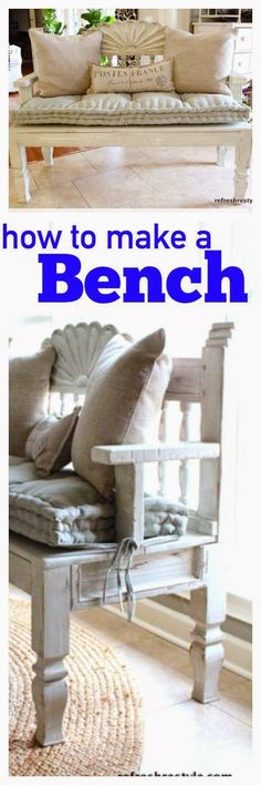 Best DIY Projects: HOW TO MAKE A BENCH