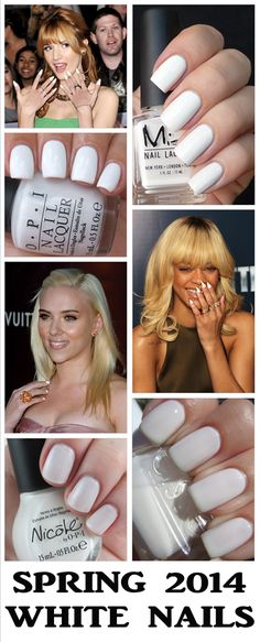 Spring 2014 Beauty Trend: White Nail Polish via She Guide Blog