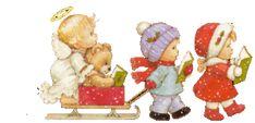 KERSTKINDEREN, kerstanimaties en kerstplaatjes bij Kerst bij Annemiek