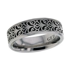 Titanium Baroque Wedding Band