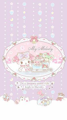 ✮ Christmas ✮ My Melody Sanrio Wallpaper, My Melody Wallpaper, Hello Kitty Wallpaper, Kawaii Wallpaper, Iphone Wallpaper, Sanrio Danshi, Hello Kitty Christmas, Hello Kitty Themes, Hello Kitty My Melody
