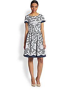 Oscar de la Renta - Lace Print Dress