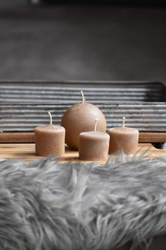 Beeswax Candles, Pillar Candles, White Stone, Mocha, Tea Lights, Tea Light Candles, Moka, Taper Candles, Candles