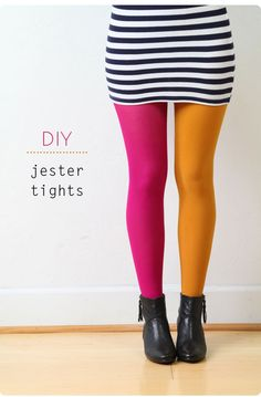 Vintage Clothing Blog | Vintage Wedding Dresses | Salvage Life: DIY: Jester Tights