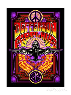 Jefferson Airplane - Fillmore Auditorium 1967 Posters by Epic Rights at AllPosters.com