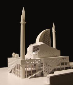Be inspired by architectural models, discover new materials and trends on the best archive of scale models in the Web. Maquette Architecture, Mosque Architecture, Public Architecture, Indian Architecture, Religious Architecture, Futuristic Architecture, Architecture Design, Islamic Art, Islamic World