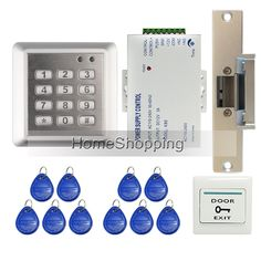 (71.98$)  Watch more here - http://ai416.worlditems.win/all/product.php?id=2023421535 - Brand New In Stock DIY Waterproof RIFD Keypad Door Access Control System Kit Set + Electric Strike Lock FREE SHIPPING WHOLESALE