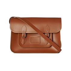 "The Classic leather satchel 15"" THE CAMBRIDGE SATCHEL COMPANY ❤ liked on Polyvore"