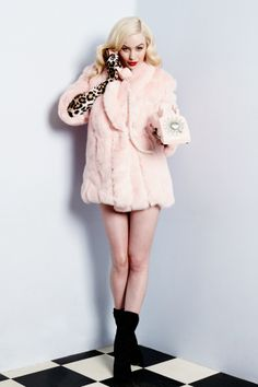For the glamourous girl about town - the exquisitely faux fur plush jacket