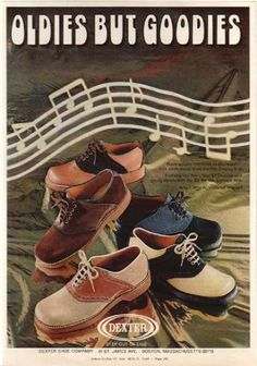 Vintage Clothes/ Fashion Ads of the 1970s - aka: saddle shoes