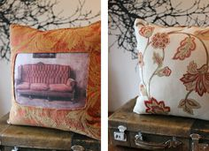 Cushion Featuring Sofa Image from theGreenSuitcaseCo My Furniture, Suitcase, Cushions, Tapestry, Sofa, Throw Pillows, The Originals, Bed, Green
