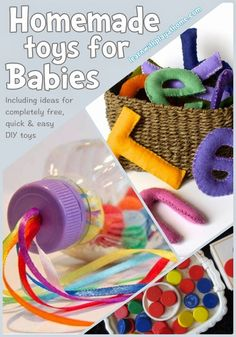 8 Homemade Toys for Babies. Sweet DIY gift ideas!