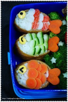Just to Make You Smile: 50 Masterpieces of Sushi and Bento Box Food Art . food recipe lunch ideas Just to Make You Smile: 50 Masterpieces of Sushi and Bento Box Food Art . Bento Box Lunch For Kids, Bento Kids, Lunch Boxes, Cute Bento Boxes, Lunch Ideas, Cute Food, Good Food, Yummy Food, Resto Vegan