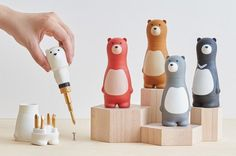 A ratcheting screwdriver set housed inside a charming bear for an extremely practical, cute toolbox addition. | 21 Gifts For The Person You Forgot To Buy Something For