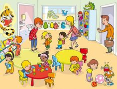 Pre K ~ by Carmen Martin Social Skills Activities, Therapy Activities, Preschool Activities, Speech Language Therapy, Speech And Language, Speech Therapy, Picture Story Writing, Picture Writing Prompts, Picture Comprehension