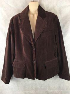 Studio 1940 Brown Velvet Two-Button Suit Blazer/Jacket Size XL  #Studio1940 #Blazer