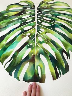 Watercolour Monstera. jasmindwyer.com