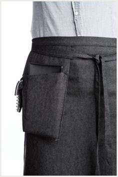 Designer Half Apron - Hanging Pocket http://www.shannonreed.com/collections/aprons/products/hanging-pocket-half-apron