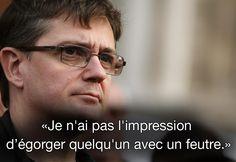 """Citation de Charb, le 19 septembre 2012, dans """"Le Monde"""". MAXPPP #CharlieHebdo"""