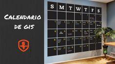 Te compartimos esta idea para organizar las fechas o eventos importantes de la empresa con este calendario de pared.
