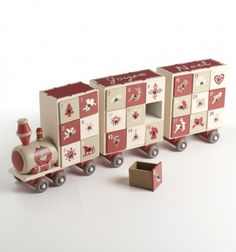 Wooden train and Carriages Advent Calendar